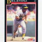 1991 Score Baseball #819 Doug Jennings - Oakland Athletics