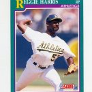 1991 Score Baseball #643 Reggie Harris - Oakland Athletics