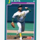 1991 Score Baseball #588 Joe Klink - Oakland Athletics