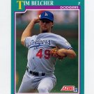 1991 Score Baseball #187 Tim Belcher - Los Angeles Dodgers