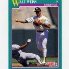 1991 Score Baseball #171 Walt Weiss - Oakland Athletics