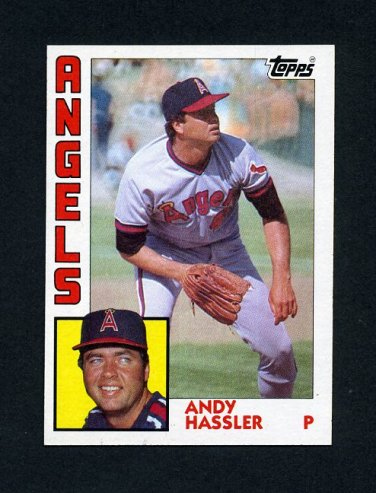 1984 Topps Baseball #719 Andy Hassler - California Angels