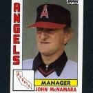 1984 Topps Baseball #651 John McNamara MG - California Angels