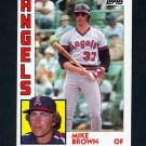1984 Topps Baseball #643 Mike C Brown RC - California Angels