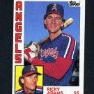1984 Topps Baseball #487 Ricky Adams RC - California Angels