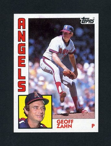 1984 Topps Baseball #468 Geoff Zahn - California Angels