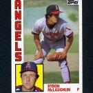 1984 Topps Baseball #442 Byron McLaughlin - California Angels