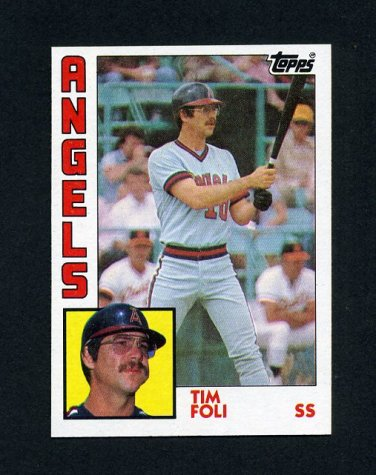 1984 Topps Baseball #342 Tim Foli - California Angels