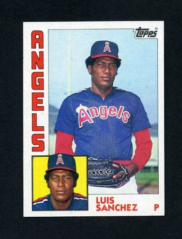 1984 Topps Baseball #258 Luis Sanchez - California Angels