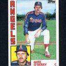 1984 Topps Baseball #184 Mike O'Berry - California Angels