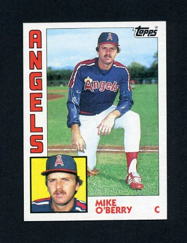 1984 Topps Baseball #184 Mike O'Berry - California Angels