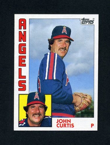 1984 Topps Baseball #158 John Curtis - California Angels