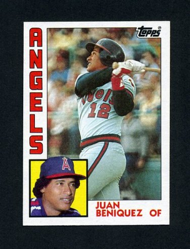 1984 Topps Baseball #053 Juan Beniquez - California Angels