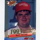 1993 Wheels Rookie Thunder Racing #042 Roy Payne