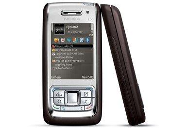 Nokia E65 Phone Mocha/Silver color, GSM Unclocked