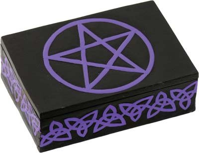 Wood Tarot Box - Celtic Pentacle