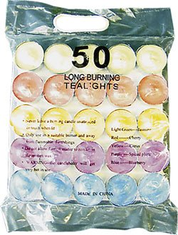 Tealight Candles - Pack of 50 - Lightly Scented