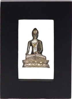 Buddha White Metal Frame - 8.5in
