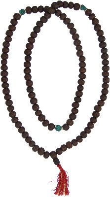 Bodhi Seeds w/ Turquoise Mala Prayer Beads 12MM
