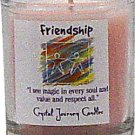 Soy Herbal Friendship Candle - Filled Votive Holder - Crystal Journeys Candles