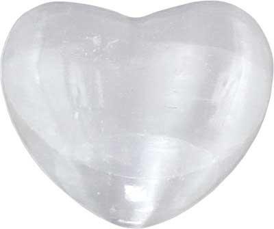 Metaphysical Selenite Gemstone Heart - 7th Crown Chakra - metaphysical