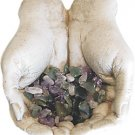 Gypsum Gods Hands Figurine with Semi-Precious Stones Kit - 2 X 3 - metaphysical