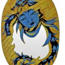 Handpainted Dragon Lady Wood Mirror 16x23.25