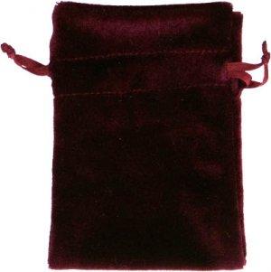 Burgundy Velvet Unlined Tarot Bag - 6x9 - metaphysical