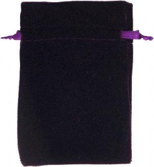 Purple Velvet Unlined Tarot Bag - 6x9 - metaphysical