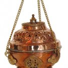 Copper and Brass Hanging Incense Burner (for granular) - metaphysical