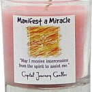 Soy Herbal Manifest A Miracle Candle - Filled Votive Holder -Crystal Journeys Candles