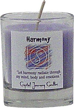 Soy Herbal Harmony Candle - Filled Votive Holder -Crystal Journeys Candles