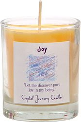 Soy Herbal Joy Candle - Filled Votive Holder -Crystal Journeys Candles