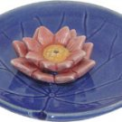 Lotus Flower Ceramic Incense Holder - 4 in. - metaphysical