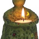 Nurturing Goddess Figurine T - Light Candle Holder - Short - metaphysical