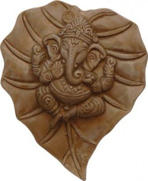 Hindu Ganesha Wall Plaque Gypsum Cement- metaphysical