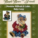Boyd's Bears Cross Stitch Pattern Booklet Momma McBruin & Luke Baby Love