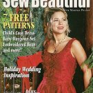 Sew Beautiful Sept Oct 2000 Holiday Wedding Christmas Topiary Smocking Theresa Borelli Paper Doll