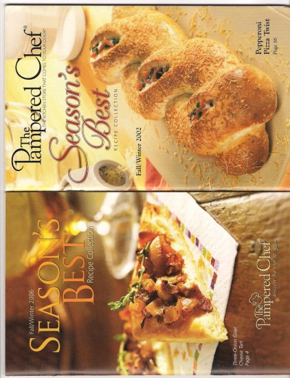 Lot of 2 Booklets The Pampered Chef Season's Best Recipes Fall/Winter 02 & 06