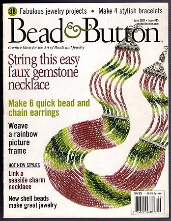 Bead & Button June 2003 Beaded Bracelets Earrings Jewelry Making 38 projects