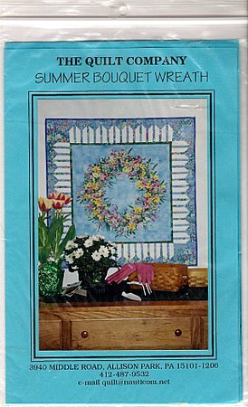 Summer Bouquet Wreath Quilt Pattern - The Quilt Company