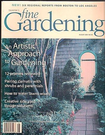 Fine Gardening Summer 2002 OOP Clematis Tomato Support Artistic Gardening Side Yard Design Pruners