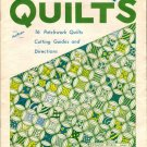 Aunt Martha's Bold and Beautiful Quilts Booklet Cutting Guides Directions 16 Quilting Designs