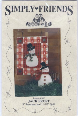 Jack Frost Snowman Decorative Doll and Wallhanging Quilt Pattern