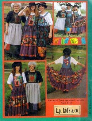 Uncut Women's Sewing Pattern Art to Wear Western Style Apple Jumper Decorative Applique Sz 8 to 20