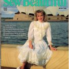 Sew Beautiful Magazine Winter 1990 Heirloom Sewing Easter Finery Smocking Martha Pullen