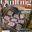 Fons & Porter's Love of Quilting November/December 2008 Christmas Quilts Easy Pieced Applique