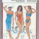 Burda 1980s Bathing Suits Coverup Sewing Pattern Uncut Sizes 8 10 12 14 16 18