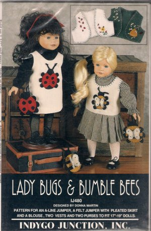 Doll Clothes Sewing Pattern 17 to 19 Inch Dolls Indygo Junction