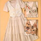 Easy Versatile Pattern Booklet Dress with Changeable Vests Sizes 6 8 10 12 14 16 18 20 22